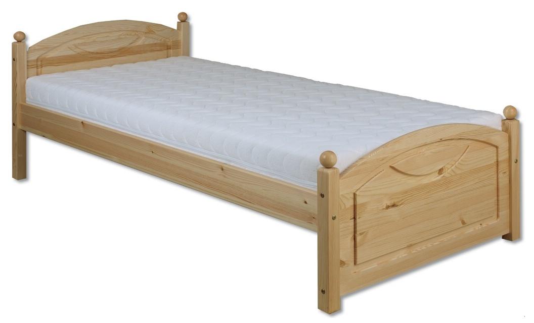 Jednolôžková posteľ 90 cm LK 126 (masív)
