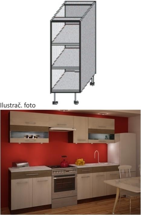 Kuchynská skrinka policová, wenge, JURA IA DO-20
