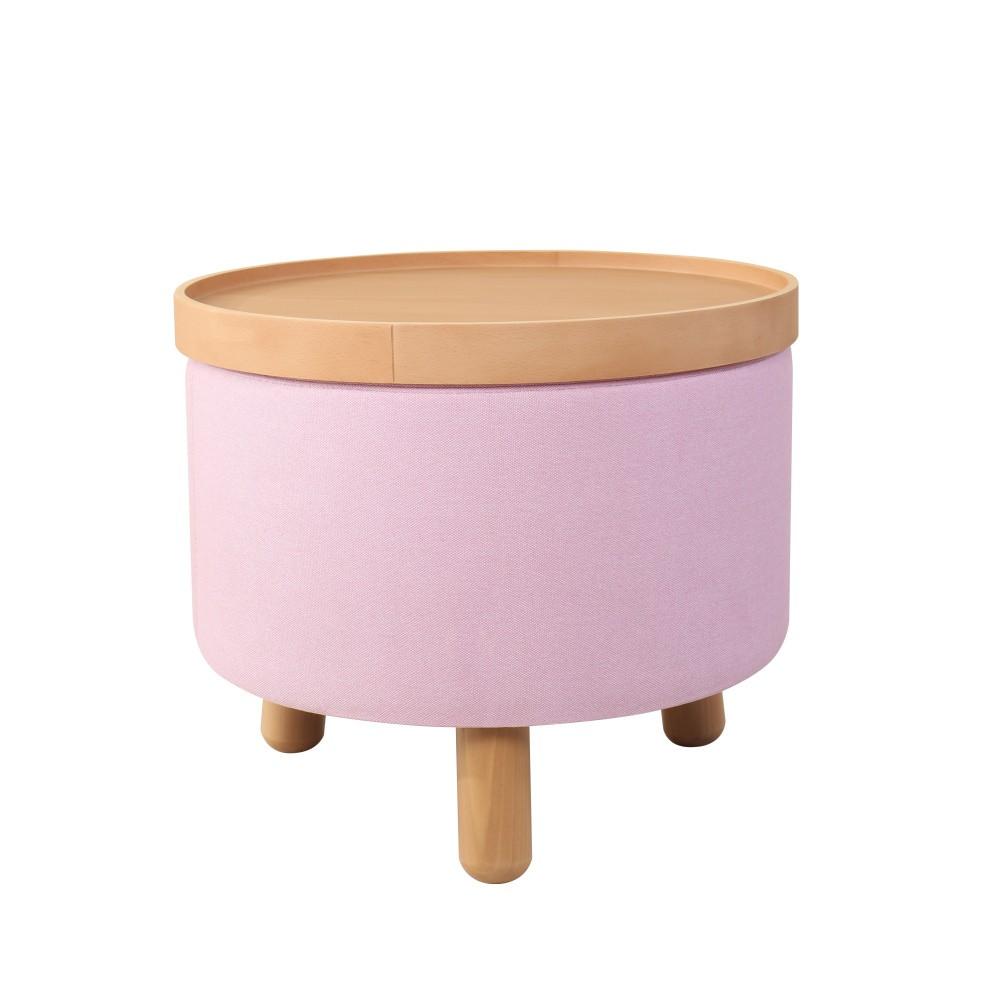 Ružová stolička Garageeight Molde s odnímateľným vrchom, veľkosť L