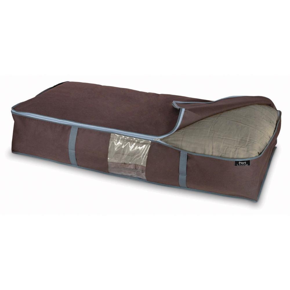 Hnedý úložný box na paplón Domopak Living, veľ. XL