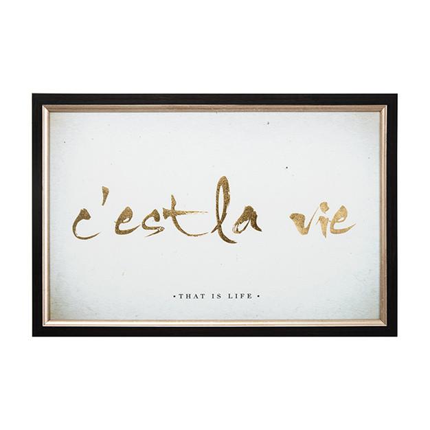 Obraz v pokovanom ráme Graham & Brown La Vie, 60 x 40 cm