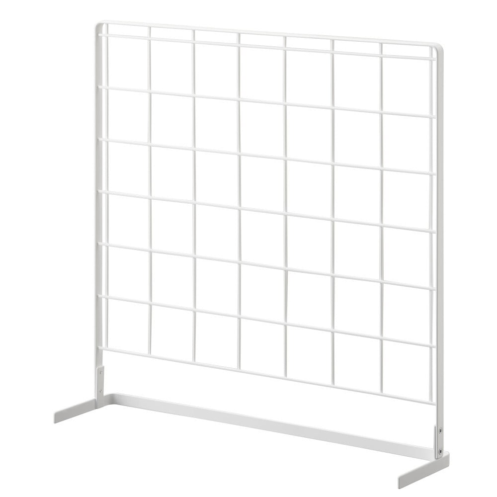 Biely kuchynský mriežkový panel YAMAZAKI Tower Grid, 52 x 52 cm