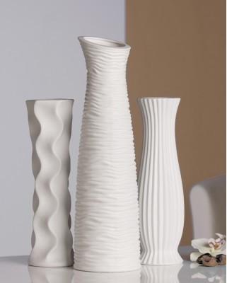 Dekoratívna váza DIVERSO 33,5 cm - biela