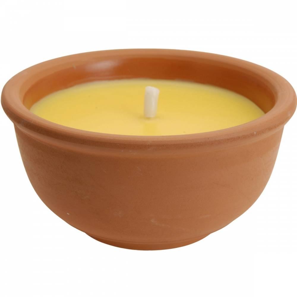 Repelentný sviečka Citronella v keramickom obale, 123 gramov