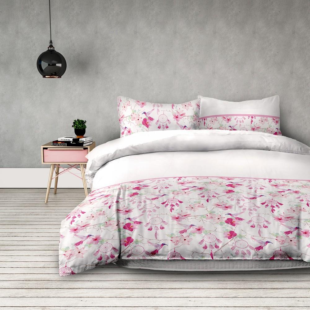 Flanelové posteľné obliečky AmeliaHome Sweet Dreams, 135 x 200 cm