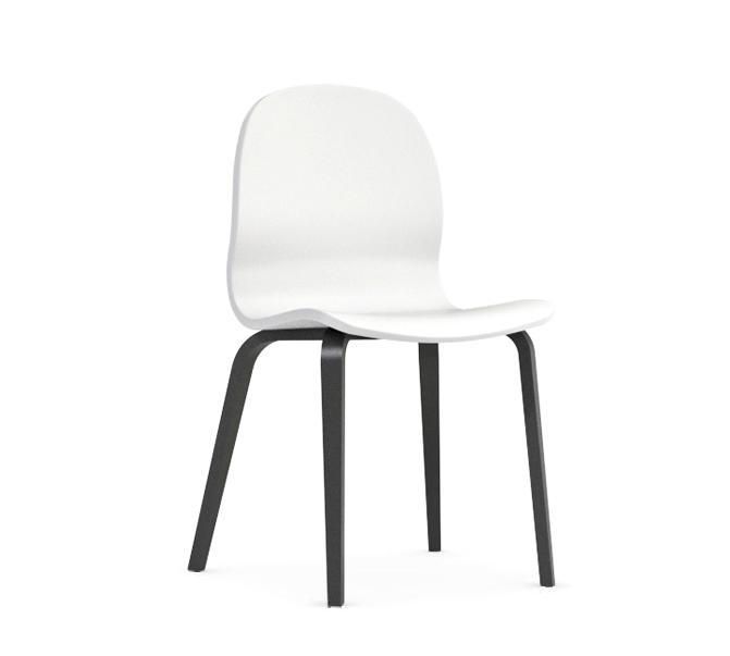 Jedálenská stolička Possi biela   Farba: biela/šedý wolfram