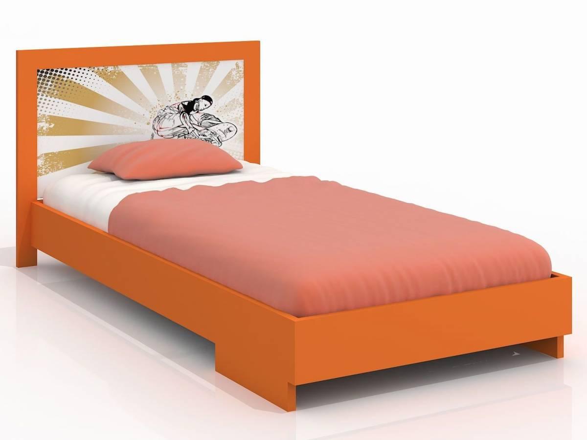 Jednolôžková posteľ 120 cm Naturlig Kids Stjernen (borovica) (s roštom)