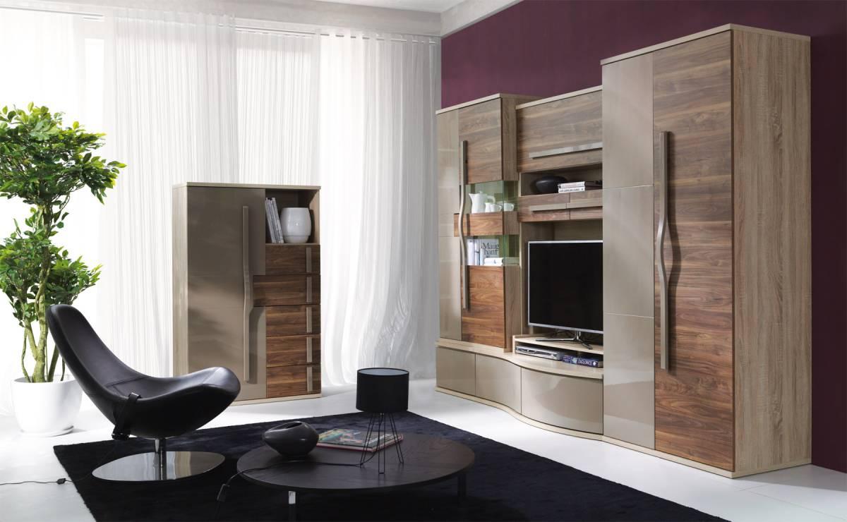 HANELL základná obývacia stena sonoma/saleve